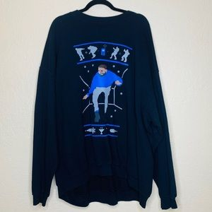 Gildan Drake Christmas Crewneck Sweatshirt sz 5xl